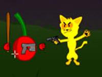 لعبة اكشن القط المحارب والفواكه الشريرة