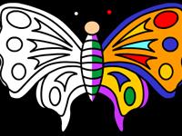 لعبة تلوين الفراشة