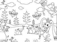 لعبة تلوين الغابة