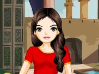 لعبة تلبيس الفتاة العربية الجميلة