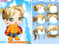 لعبة قص شعر بنات الانمي في الاسكيمو الثلجي