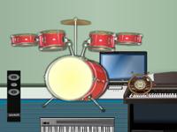 لعبة ديكور غرفة الموسيقي