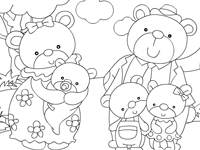 العاب تلوين لعبة تلوين عائلة الدببة الجميلة