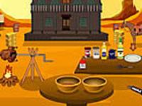 لعبة طبخ وشوي الدجاج على طريق رعاة البقر