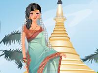 لعبة تلبيس البنوتة الهندية الجميلة