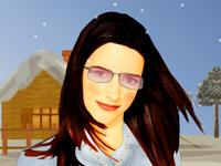 لعبة مكياج الفنانة كريستين دايفز الشهيرة