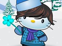 لعبة تلبيس هيلو كيتي الملابس الشتوية