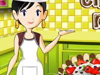لعبة طبخ كيكة موس الشوكولاتة مع سارة
