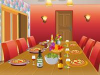 لعبة ديكور غرفة الطعام الكبيرة