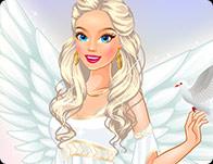 لعبة تلبيس الجميلة الملاك