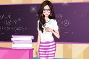 لعبة تلبيس المعلمة الجميلة