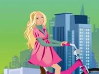 لعبة باربي على الدراجة