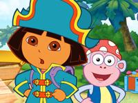 لعبة دورا وموزو القراصنة والسفينة