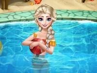 لعبة حمام سباحة ايلسا