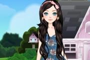 لعبة تلبيس الفتاة الجميلة