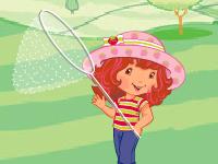 لعبة ستروبري وامساك الفراشات