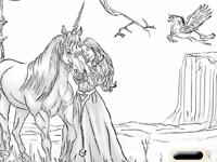 لعبة تلوين الحصان الجميل