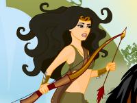 لعبة تلبيس الفتاة المقاتلة