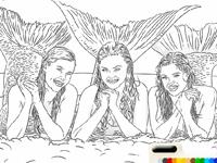 لعبة تلوين حورية البحر