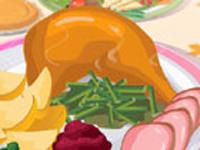 لعبة طبخ وتحضير طبق الديك الرومي