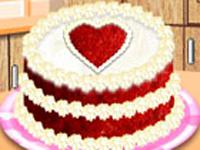 لعبة طبخ وديكور التورته الحمراء