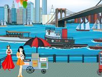 لعبة ديكور وترتيب الشاطئ الجميل