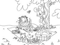العاب تلوين لعبة تلوين رحلة الحيوانات في الغابة