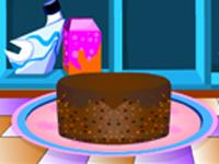 لعبة خبز كعكة الفواكة اللذيذة مع الطباخة سارة