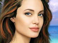 لعبة ماكياج انجلينا جولي