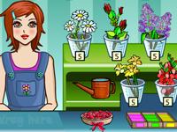 لعبة تسوق والازهار الجميلة