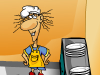 لعبة طبخ ومساعدة الطباخ الغاضب في التقاط الصحون النظيفة