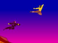 لعبة اكشن وقتال النينجا في السماء