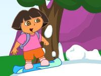 لعبة تزلج دورا على الجليد والثلج