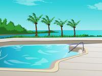لعبة ديكورات حمام السباحة
