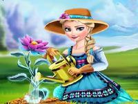 لعبة تلبيس راعية الزهور