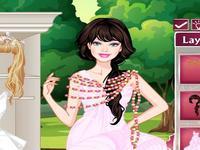 لعبة باربي والفستان الابيض