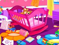 لعبة تنظيف غرفة الطفل