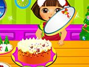 لعبة دورا وكعكة الكريسماس
