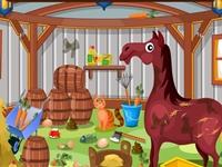 لعبة تنظيف بيت الخيول