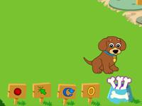لعبة دورا والكلب في الحديقة